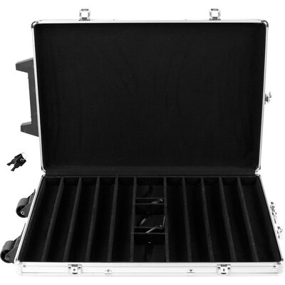 Trademark Global Chip Case Trolley in Aluminum with Wooden Insert