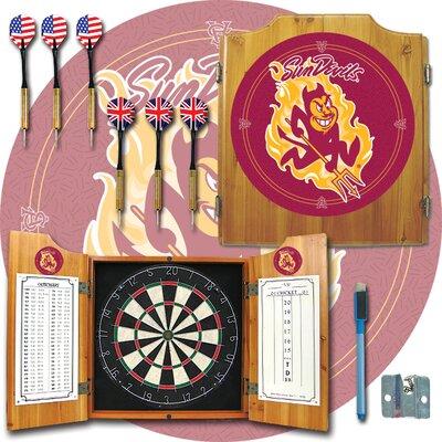 NCAA Dart Cabinet in Medium Wood NCAA Team: Arizona State