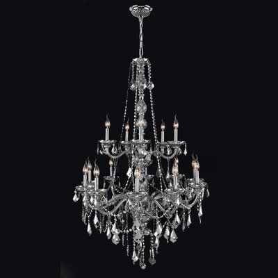 Doggett 15-Light Chain Candle Style Chandelier