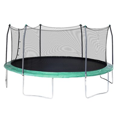 17' x 15' Oval Trampoline with Safety Enclosure Pad Color: Green