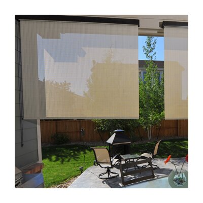 "Heavy Duty Semi-Sheer Outdoor Solar Shade Size: 48"" W x 96"" L, Color: Tropic"