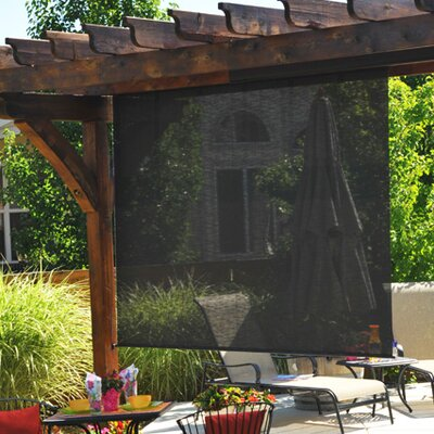 "Heavy Duty Semi-Sheer Outdoor Solar Shade Size: 48"" W x 96"" L, Color: Kona"