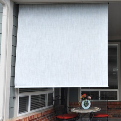 "Heavy Duty Semi-Sheer Outdoor Solar Shade Size: 48"" W x 96"" L, Color: Caribbean"