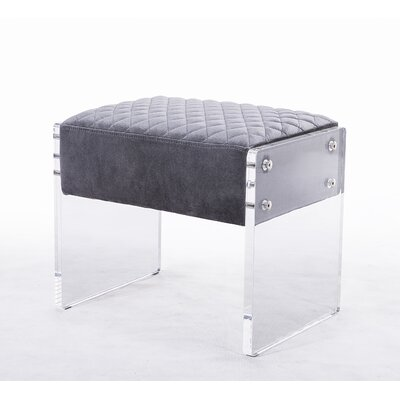 Venice Vanity Stool Color: Dark Gray