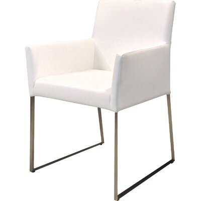 Tate Dining Arm Chair Upholstery: White