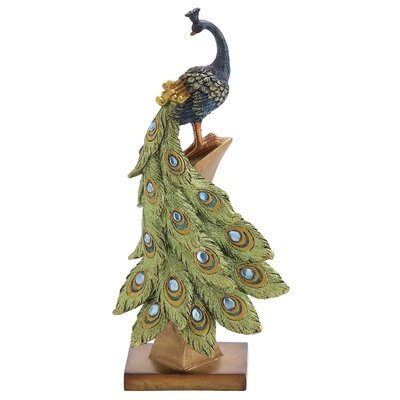 Peacock Table Dcor Figurine Wayfair