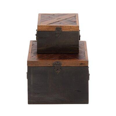Woodland Imports The Simple 2 Piece Wood Box Set