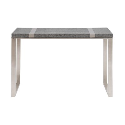 The Cool Stainless Steel Vinyl Console Table Wayfair