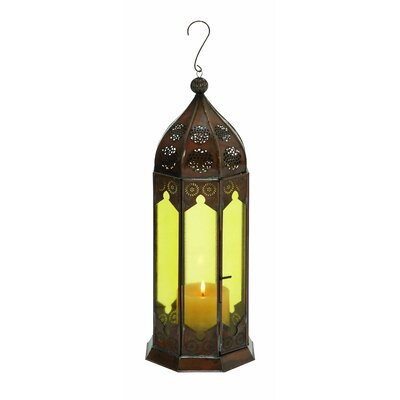 Woodland Imports Traditional Glass Lantern