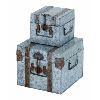 Woodland Imports 2 Piece Galvn Box Set