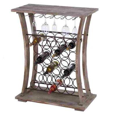 Woodland Imports 26 Bottle Floor Wine Rack
