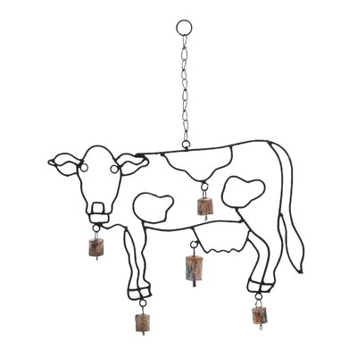 Woodland Imports Cow Wind Chime