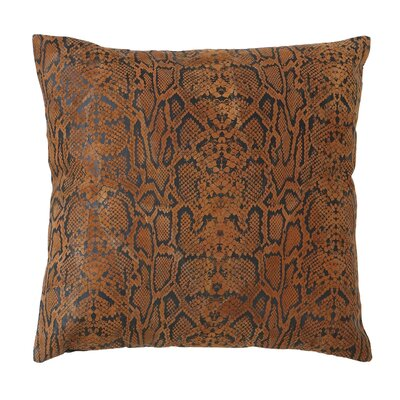 Woodland Imports Faux Leather Throw Pillow