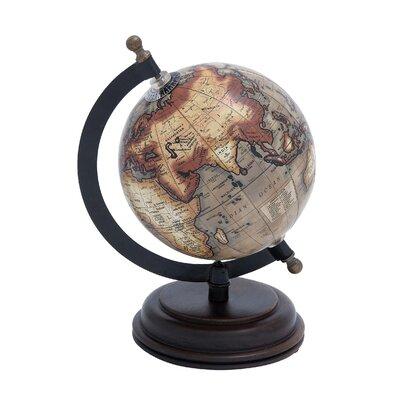 Woodland Imports Metal Wooden Globe