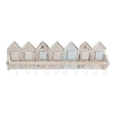 Wood and Metal Beautiful Home-Shaped Wall Hooks