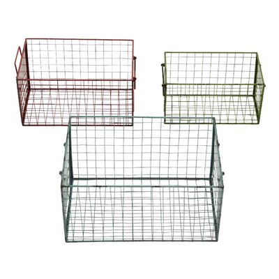Woodland Imports 3 Piece Wire Basket Set