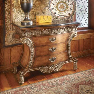 Durling 3 Drawer Chest with Fossil Stone Top