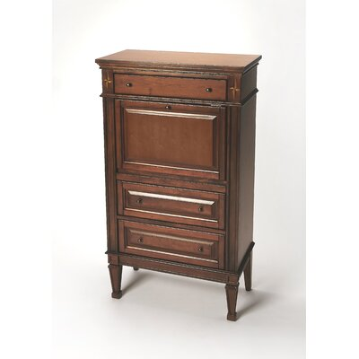 Chubbuck Plantation Cherry Armoire Desk Finish: Olive Ash Burn