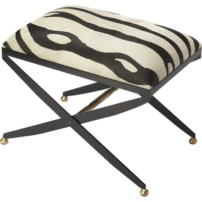 Cosmopolitan Liddy Hair-On-Hide Accent Stool