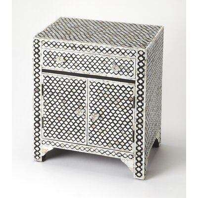 Eglantine Mother of Pearl 1 Drawer Accent Cabinet