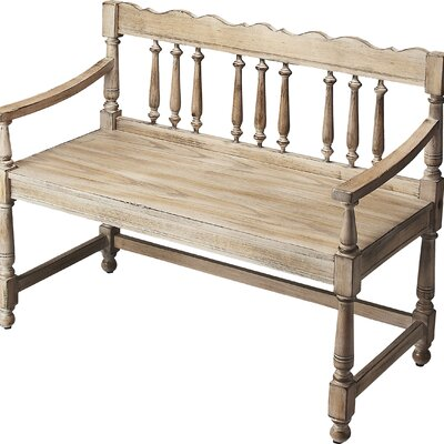 Evelyn Wood Bench Color: Driftwood