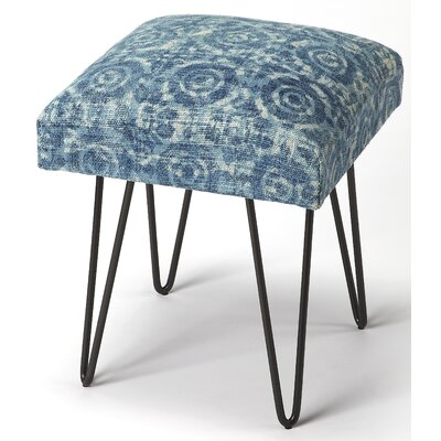 Eduard Accent Stool Upholstery: Blue