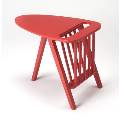 Whitham Magazine Rack Color: Red