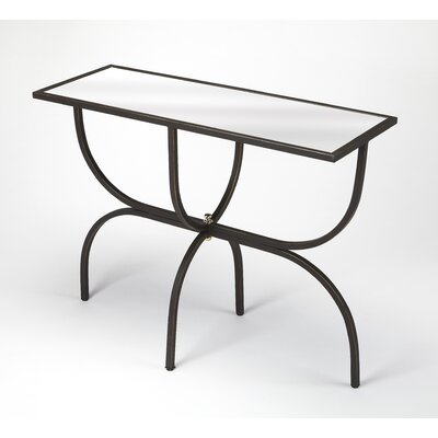 Colerane Metal And Mirror Console Table