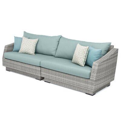 Castelli Sofa with Sunbrella Cushions Color: Spa Blue