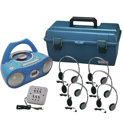 Hamilton Electronics 6 Person Val-U-Pack Bluetooth/CD/Cassette Listening Center