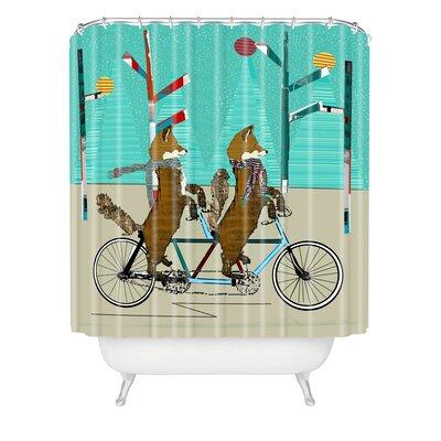 Brian Buckley Foxy Days Lets Tandem Shower Curtain
