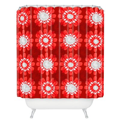 Julia Da Rocha Retro Flowers Shower Curtain