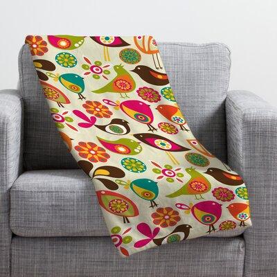 DENY Designs Valentina Ramos Little Birds Throw Blanket