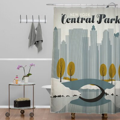 DENY Designs Anderson Design Group Central Park Snow Shower Curtain