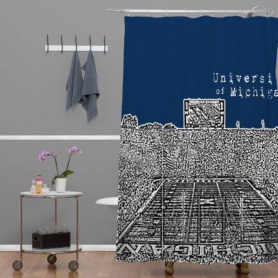 DENY Designs Bird Ave University of Michigan Shower Curtain