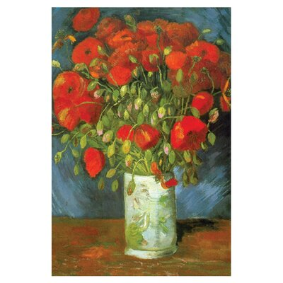 Buyenlarge Red Poppies by Vincent Van Gogh Painting Print on Wrapped Canvas