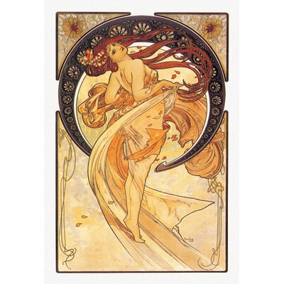 Buyenlarge Dance Golden by Mucha Graphic Art on Wrapped Canvas