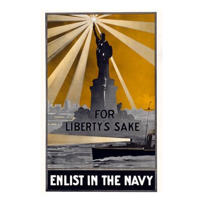 Buyenlarge For Liberty's Sake, Enlist in the Navy by Smith and Porter Press Vintage Advertisement on Wrapped Canvas