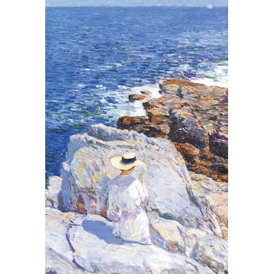 Buyenlarge Southern Rock Riffs, Appledore by Frederick Childe Hassam Painting Print on Wrapped Canvas
