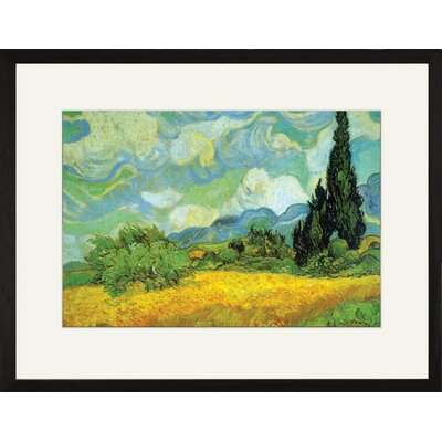 Buyenlarge Cypresses Framed Painting Print