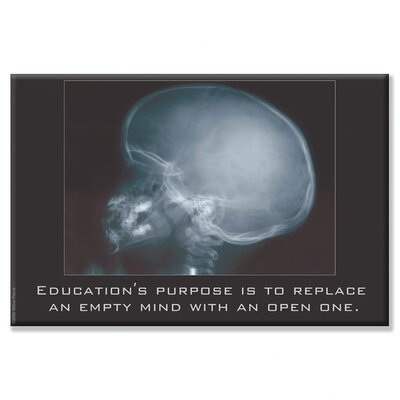 Buyenlarge Education for an Empty Mind Graphic Art on Wrapped Canvas