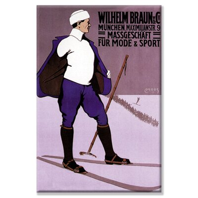 Buyenlarge Reflective Skier in Turtleneck Vintage Advertisement on Wrapped Canvas