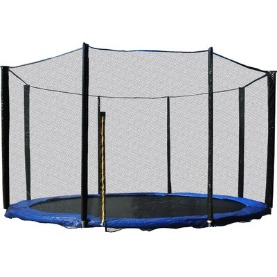 """Enclosure for Trampoline Size: 107"""" H x 144"""" W x 144"""" D"""