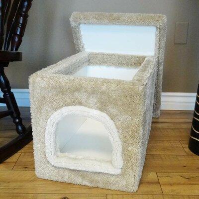Premier Litter Box Enclosure Color: Beige, Size: 16'' H x 16'' W x 24'' D