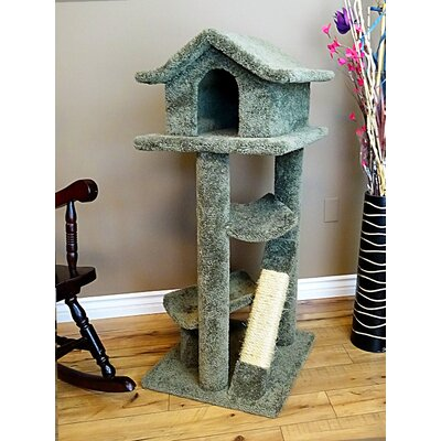 "46"" Premier Cat Pagoda Tree Color: Green"