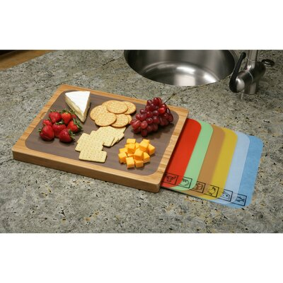 Bamboo Cutting Board with Cutting Mats