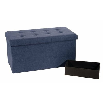 Foldable Upholstered Bench Upholstery: Blue