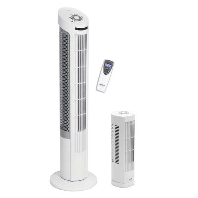 """UltraSlimline 40"""" Oscillating Tower Fan with Remote Control"""