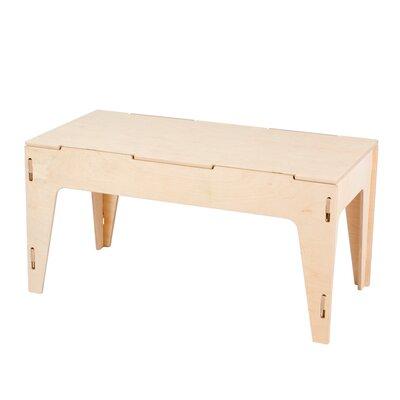 Caja Wood Storage Bench Color: Raw