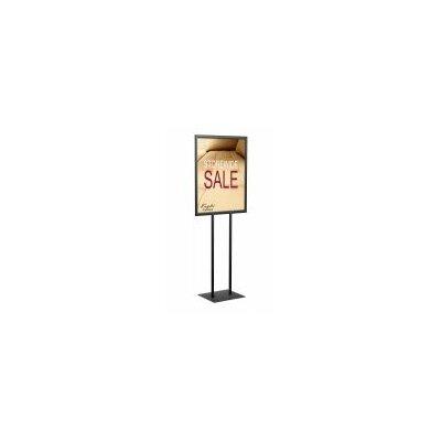 """Poster Pole Signholder Size: Double Pole 66"""" H x 22"""" W, Color: Matte Black"""